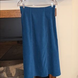 Beautiful vintage blue green fall skirt PS